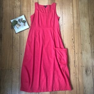 Eileen Fisher Flora Lantern Linen Blend Dress